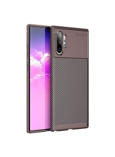 Microsonic Samsung Galaxy Note 10 Plus Kılıf Legion Series Kahverengi Kahve